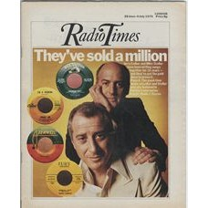RT 2694 - 26 June 1975 (28 Jun-4 Jul) (Scotland) INSIGHT (Radio 1) with cover photo of Jerry Leiber and Mike Stoller.