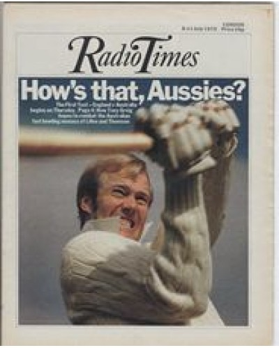 RT 2695 - 3 July 1975 (5-11 Jul) (London) THE FIRST TEST England v Australia - with cover photo of  Tony Greig.