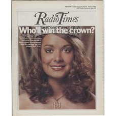 RT 2701 - 14 August 1975 (16-22 Aug) (East) MISS UNITED KINGDOM (BBC1) with cover photo of Helen Morgan.