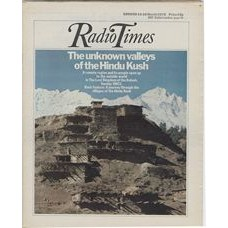 RT 2731 - 11 March 1976 (13-19 March) (London) THE LOST KINGDOM OF THE KALASH (BBC2) with cover photo of village habitats from the unknown valleys of the Hinhu Kush.