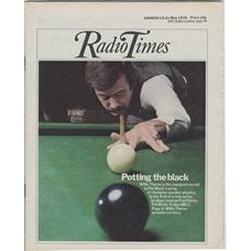 RT 2740 - 13 May 1976 (15-21 May) (London) POT BLACK (BBC2) with cover photo of Willie Thorne.