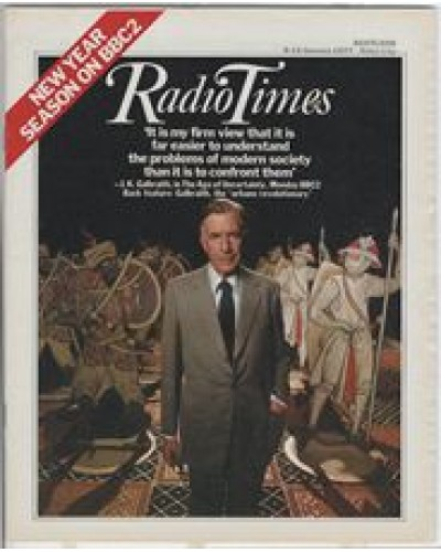 RT 2774 - 6 January 1977 (8-14 January) (East) THE AGE OF UNCERTAINTY (BBC2) with J.K. Galbraith on the cover.