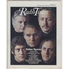 RT 2777 - 27 January 1977 (29 Jan-4 Feb) (South) FATHERS AND FAMILIES (BBC1) with photomontage of faces of Dinsdale Laden, Benjamin Whitrow, Anton Rogers, Gareth Thomas and TP McKenna.
