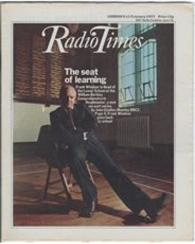 RT 2778 - 3 February 1977 (5-11 February) (North) HEADMASTER (BBC2) with cover photo of Frank Windsor.