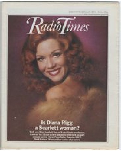 RT 2782 - 3 March 1977 (5-11 March) (South) THREE PIECE SUITE (BBC2) with cover photo of Diana Rigg as Miss Scarlett.