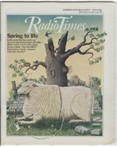 RT 2784 - 17 March 1977 (19-25 Mar) (Scotland) HAVING A BABY (BBC2) Spring to life. With colour cover illustration ( by Peter Brookes) of a [presumably pregnant] sheep knitting a bootie using her own wool.