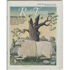 RT 2784 - 17 March 1977 (19-25 Mar) (North) HAVING A BABY (BBC2) Spring to life. With colour cover illustration ( by Peter Brookes) of a [presumably pregnant] sheep knitting a bootie using her own wool.