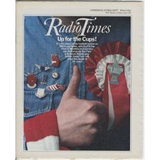 RT 2793 - 19 May 1977 (21-27 May) (Scotland) FA CUP FINAL / EUROPEAN CUP FINAL (BBCtv & Radio) with cover photo of  a thumbs-up and a red rosette.
