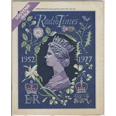 RT 2795 - 2 June 1977 (4-10 Jun) (Midlands) JUBILEE WEEK Queen's Silver Jubilee Souvenir Issue. Cover illustration of a tapestry in blue with the Queen's head.