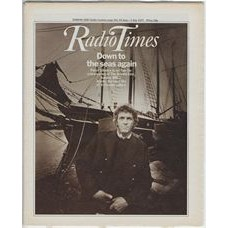 RT 2798 - 23 June 1977 (25 Jun-1 Jul) (North) THE ONEDIN LINE (BBC1) with cover photo of Peter Gilmore.