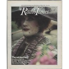 RT 2833 - 23 February 1978 (25 Feb-3 March) (Scotland) SHE FELL AMONG THIEVES (BBC2) with cover photo of Eileen Atkins as Vanity Fair.