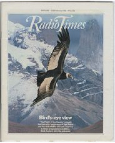 RT 3040 - 13-19 February 1982 (Northern Ireland) THE FLIGHT OF THE CONDOR (BBC2) with cover photo of the condor in flight.