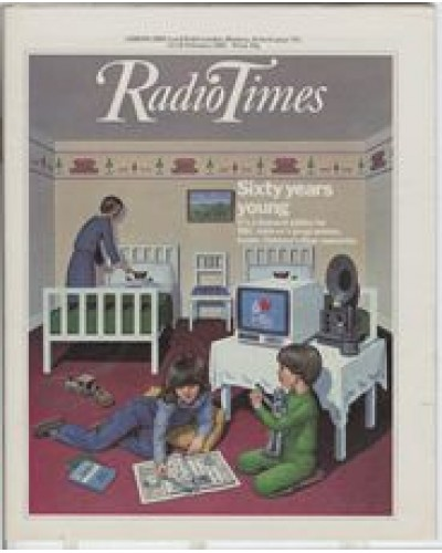RT 3092 - 12-18 Feb 1983 (West) BBC CHILDREN'S PROGRAMMES Diamond Jubilee - with cover illustration (by Ann Sharp) of children.