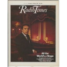 RT 3142 - 28 January-3 February 1984 (Scotland) ALL THE WORLD'S A STAGE (BBC2) with cover photo of Ronald Harwood.