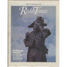 RT 3145 - 18-24 February 1984 (North East) FORTY MINUTES (BBC2) Feathered friends? With cover (by Ric Gemmell) of the statue of Nelson annoyed by pigeons!