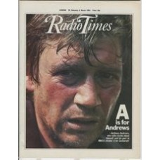 RT 3146 - 25 February-2 March 1984 (South West) Z FOR ZACHARIAH (BBC1) with cover photo of Anthony Andrews.