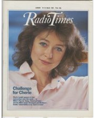 RT 3148 - 10-16 March 1984 Play for Today DESERT OF LIES (BBC1) Cherie Lunghi / Also in STRANGERS AND BROTHERS (BBC2 serial)