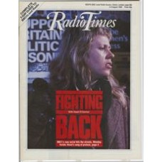 RT 3271 - 2-8 August 1986 (West) FIGHTING BACK (BBC1) with cover photo of Hazel O'Connor.