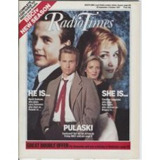 RT 3331 - 26 September-2 October 1987 (South East) PULASKI (BBC1) with cover photo of David Andrews and Caroline Langrishe.