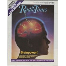 RT 3380 - 10-16 September 1988 (London) THE MIND MACHINE (BBC2) with cover (by Michael Freeman) of a sparking brain in a human head.
