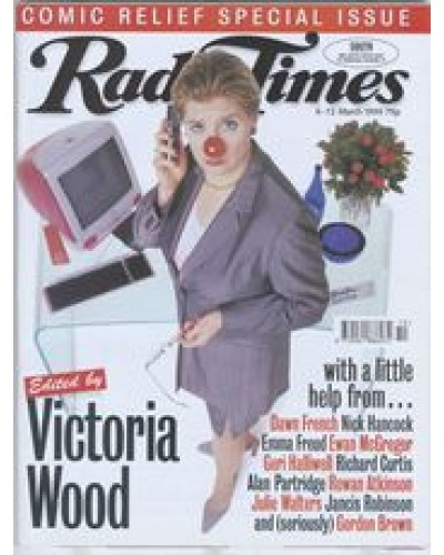 RT 3916 - 6-12 March 1999 (West/Wales) COMIC RELIEF Special Issue Edited by Victoria Wood... with a little help from... With Victoria Wood on the cover.
