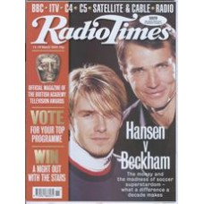 RT 3917 - 13-19 March 1999 (West/Wales) THE FOOTBALL MILLIONAIRES with cover photo of David Beckham & Alan Hansen.