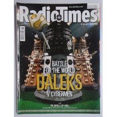 RT 4292 - 8-14 July 2006 [1 of 2 collector's covers] (South / West & SouthWest)   DOCTOR WHO Battle for the World (BBC1) Daleks v Cybermen- with cover picture of DALEKS. // WORLD CUP FINAL