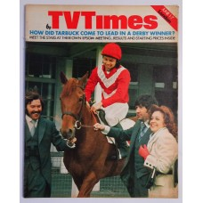 TVT 1974/23 - June 1-7, 1974 (London) DERBY DAY - with cover photo of Dickie Davies, Jimmy Tarbuck, Diana Coupland - and Frazer Hines riding Tarby.