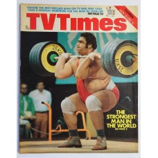 TVT 1974/49 - November 30-December 6, 1974 (London) INTERNATIONAL SPORTS SPECIAL-2 Weightlifting: The Strongest Man in the World - with cover photo of Vasily Alexeyev.