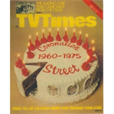 TVT 1975/50 - December 6-12, 1975 (London) CORONATION STREET 1960-1975 - with cover photo of a birthday cake.