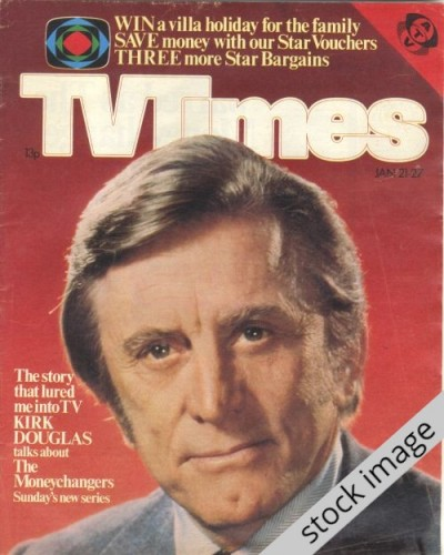 TVT 1978/04 - January 21-27, 1978 (London - Thames/LWT) THE MONEYCHANGERS - with cover photo of Kirk Douglas.