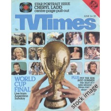 TVT 1978/26 - June 24-30, 1978 (London - Thames/LWT) WORLD CUP '78 - 3rd/4th Place Final - with foreground cover photo of the World Cup trophy.