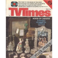 TVT 1979/08 - February 17-23, 1979 (London - Thames/LWT) THE HOUSE OF CARADUS - cover photo includes a framed picture of Anthony Smee, Sarah Bullen and Robert Grange.