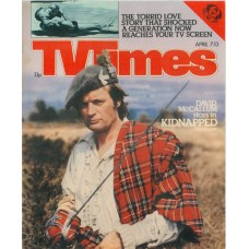 TVT 1979/15 - April 7-14, 1979 (ATV) [Abbreviated] KIDNAPPED - with cover photo of David McCallum.