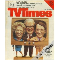 TVT 1979/18 - April 28 - May 4, 1979 (London - Thames/LWT) [Abbreviated] ELECTION 79 - with cover picture of caricatures of  Thatcher, Callaghan and Steel.