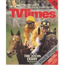 TVT 1979/23 - June 2-8, 1979 (London - Thames/LWT) MID-WEEK RACING - THE 200TH DERBY with cover photo of Lester Piggot and another jockey on horses.