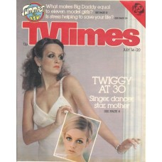 TVT 1979/29 - July 14-20, 1979 (ATV) BONKERS! With cover photos of Twiggy [Lesley Hornby] at 30 and one from the Sixties.