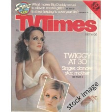 TVT 1979/29 - July 14-20, 1979 (London - Thames/LWT) BONKERS! With cover photos of Twiggy [Lesley Hornby] at 30 and one from the Sixties.