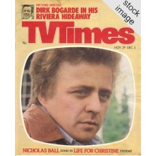 TVT 1980/49 - November 29-Dec 5, 1980 (London Thames/LWT) LIFE FOR CHRISTINE - with cover photo of Nicholas Ball.