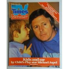 TVT 1984/14 - 31 March-6 April 1984 (HTV) CHILD'S PLAY - with cover photo of Michael Aspel with little boy.