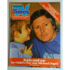 TVT 1984/14 - 31 March-6 April 1984 (Thames/LWT) CHILD'S PLAY - with cover photo of Michael Aspel with little boy.