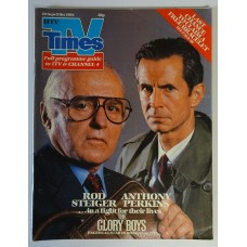 TVT 1984/39 - 29 September-5 October 1984 (HTV) THE GLORY BOYS - with cover photo of Rod Steiger and Anthony Perkins.