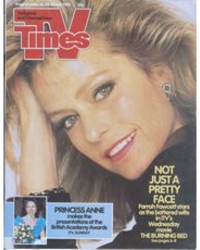 TVT 1987/12 - 14-20 March 1987 (TVS and C4) MOVIE PREMIERE: THE BURNING BED - Farrah Fawcett