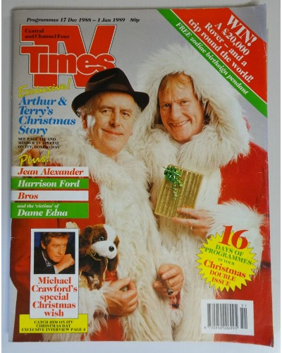 TVT 1988/Xmas - 17-30 December 1988 (Central and C4) CHRISTMAS 1988 DOUBLE ISSUE - MINDER - with cover photo of George Cole and Dennis Waterman.