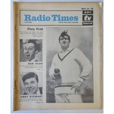 RT 2115 - May 21, 1964 (May 23-29) (South & West)  FIERY FRED (BBC-1) with main cover photo of Freddie Trueman / ANN VERONICA (BBC-2) Rosemary Nicols / THE KEN DODD SHOW(Light) with photo.