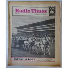 RT 2118 - June 11, 1964 (Jun 13-19) (South & West) ROYAL ASCOT (TV & Radio) with cover photo of horses and carriage