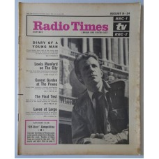 RT 2126 - August 6, 1964 (Aug 8-14) (London & South-East) DIARY OF A YOUNG MAN (BBC-1) with cover photo of Victor Henry.