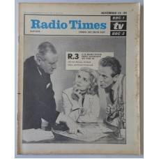 RT 2140 - November 12, 1964 (Nov 14-20) (London & South-East) R.3 (BBC-1) with cover photo of John Robinson, Elizabeth Sellars and Richard Wordsworth.