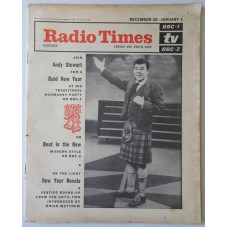 RT 2146 - Dec 24, 1964 (Dec 26-Jan 1, 1965) (London & South-East) [Incomplete] A NEW YEAR PARTY (BBC-1) with cover photo of Andy Stewart /  BEAT IN THE NEW! (BBC-2)