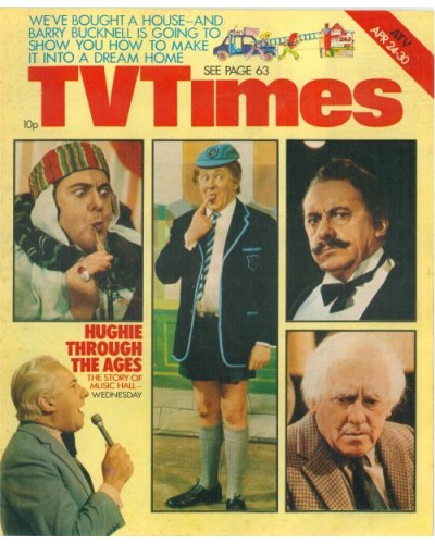 TVT 1976/18 - April 24-30, 1976 (ATV) HUGHIE'S FULL HOUSE -  with five cover photos of Hughie Green.